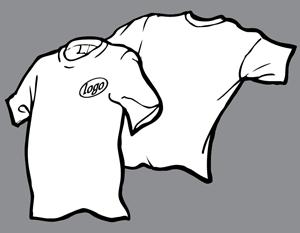 White 1 color logo t-shirt